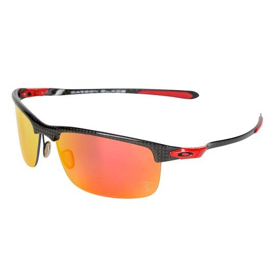 ab7e6552b Óculos Oakley Ferrari Carbon Blade - Iridium Polarizado - Preto+Vermelho