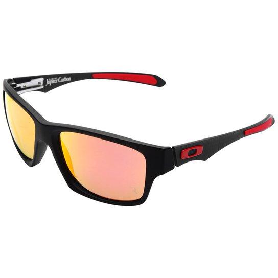 Óculos Oakley Ferrari Jupiter Carbon - Iridium Polarizado - Preto+Vermelho 6eea7f5dca