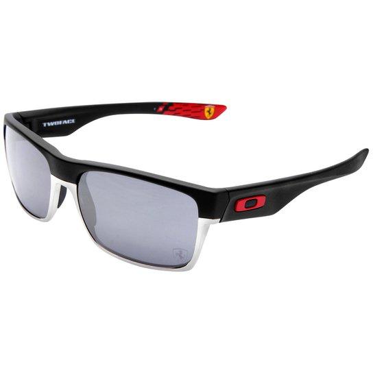 2bb72e917ab99 Óculos Oakley Ferrari Twoface - Iridium - Preto+Vermelho
