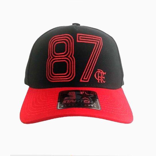 Boné Flamengo 87 Bordado Starter - Preto e Vermelho - Compre Agora ... 33e6fe3cd8b