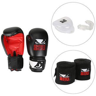 Kit Luva de Boxe   Muay Thai Bad Boy 10 OZ + Bandagem Elástica Bad Boy dae380cd59386