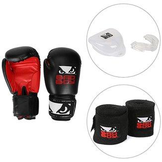 Kit Luva de Boxe   Muay Thai Bad Boy 12 OZ + Bandagem Elástica Bad Boy ecc2af651373a
