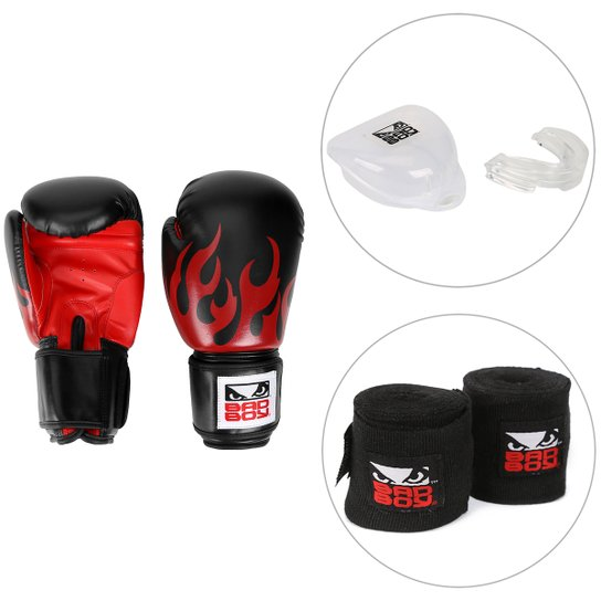 473929b7c Kit Luva de Boxe   Muay Thai Bad Boy 10 OZ + Bandagem Elástica Bad Boy ...