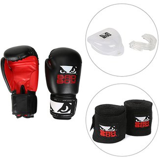 f836367acc Kit Luva de Boxe   Muay Thai Bad Boy 16 OZ + Bandagem Elástica Bad Boy