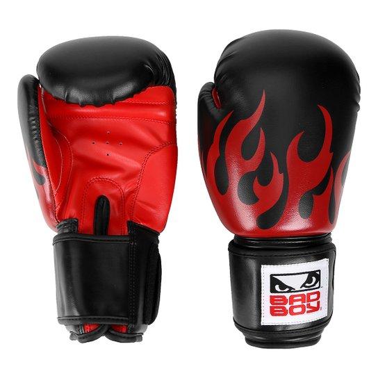 13ac92cab Luva de Boxe Muay Bad Boy com Fogo - Preto e Vermelho