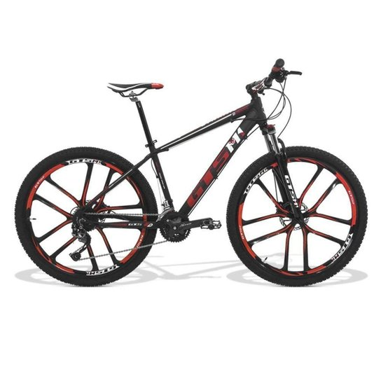 1c5f6966c Bicicleta GTSM1 Câmbio Shimano Alívio 27 Marchas - Aro 29 - Preto+Vermelho