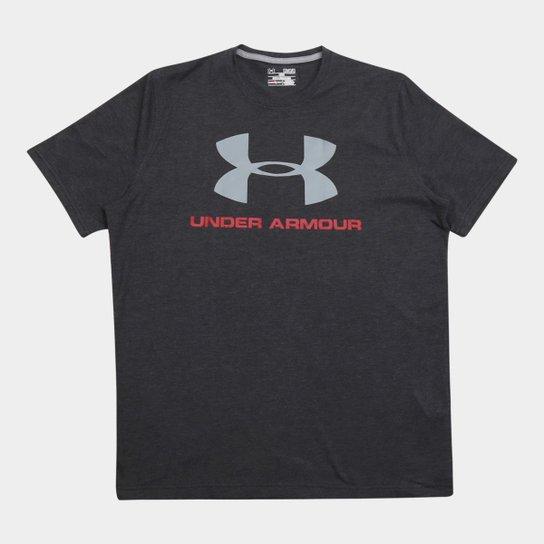 681336a99c4 Camiseta Under Armour Sportstyle Logo Masculina - Chumbo e Vermelho ...