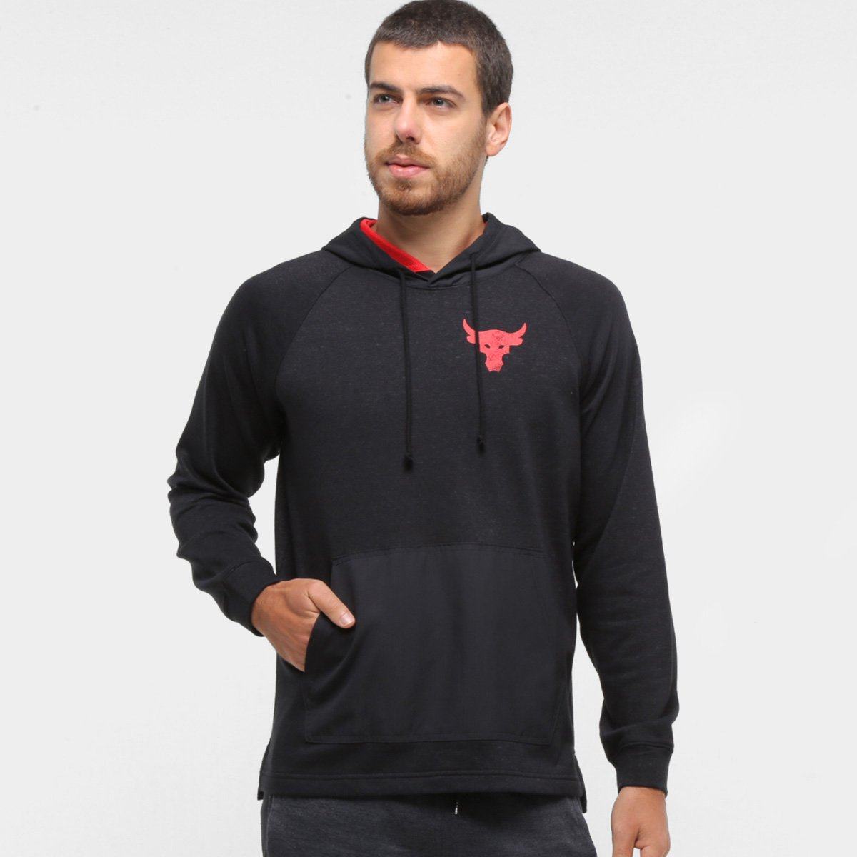 Moletom Under Armour Project Rock Canguru Masculino