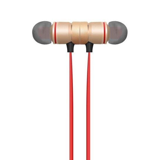 6a6239f06a0 Fone XT-6 Bluetooth Sport Sem Fio - Preto+Vermelho