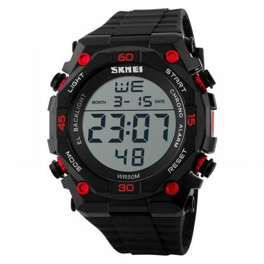 9ed68341c29 Relógio Masculino Skmei Digital 1130 - Preto e Vermelho - Compre ...