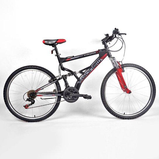 Bicicleta Gonew Endorphine 5.7 Thumb Shifter- Shimano Alumínio Aro 26 -  Full Suspension - Preto acf8ac5924e