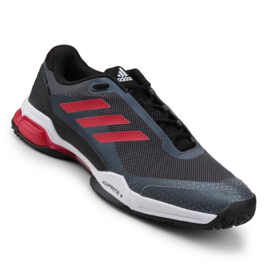 0b550c2ded1 Tênis Adidas Barricade Club OC Masculino - Preto+Vermelho