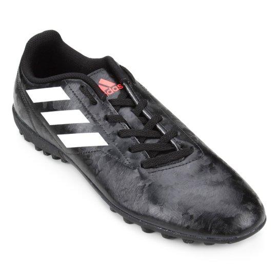 Chuteira Society Adidas Conquisto II TF - Preto e Vermelho - Compre ... 972e52884849f
