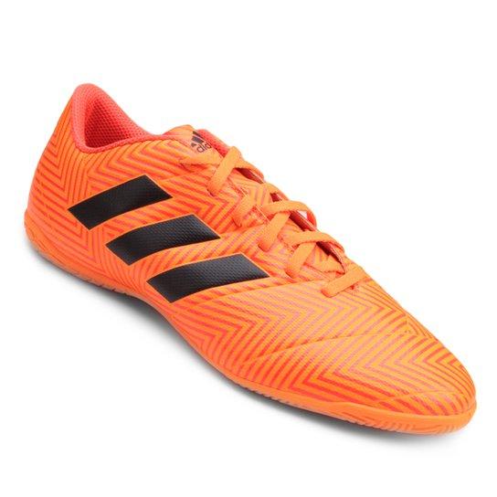 d602ad77e5 Chuteira Futsal Adidas Nemeziz Tango 18 4 IN - Laranja e Preto ...
