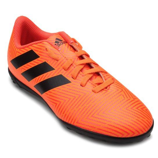 Chuteira Society Infantil Adidas Nemeziz Tango 18 4 TF - Preto+Vermelho 4a2b8f78135c9
