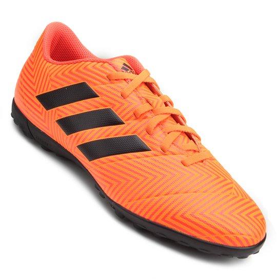 abdb497c9f Chuteira Society Adidas Nemeziz Tango 18 4 TF - Laranja e Preto ...