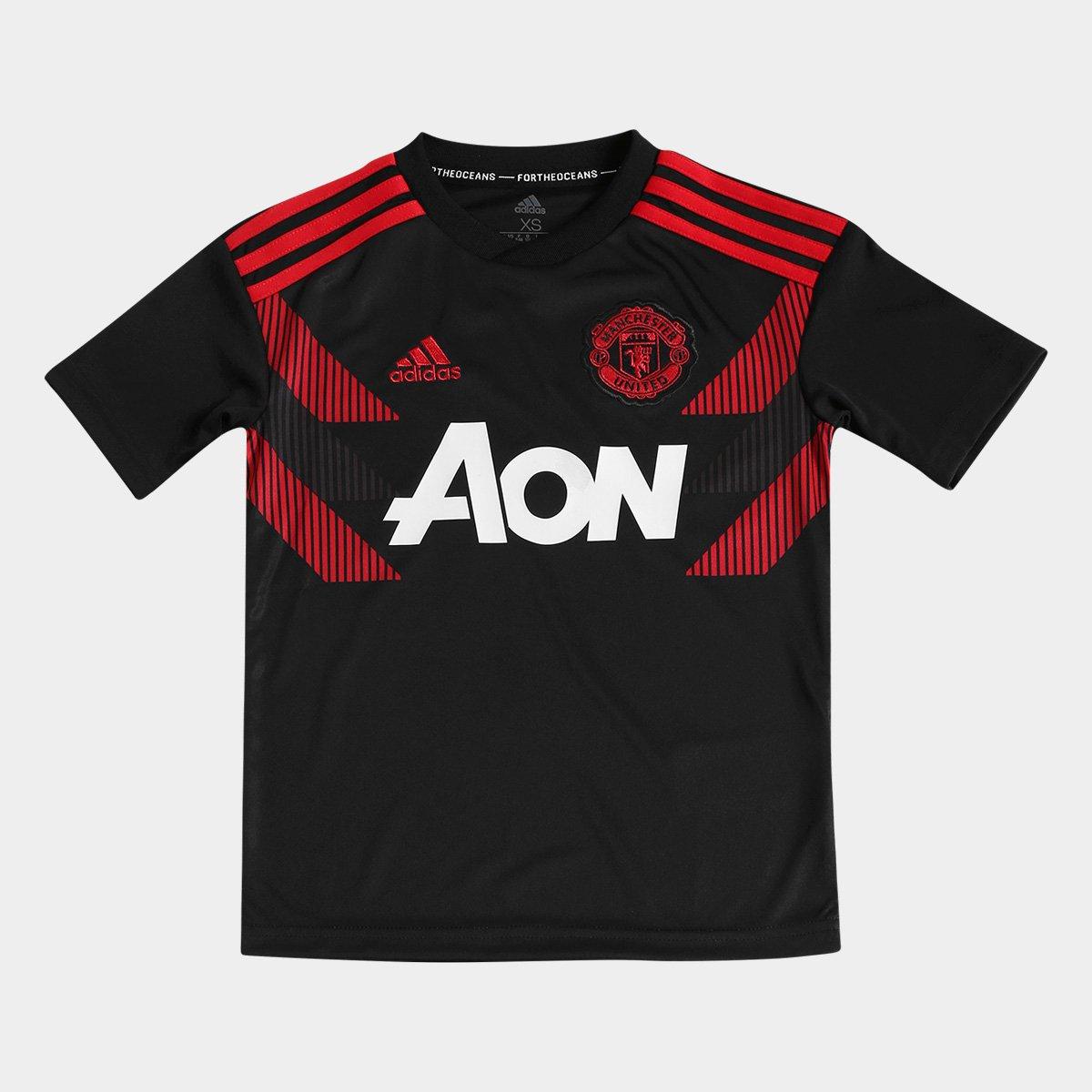 a18d61f30f Camisa Manchester United Infantil Pré-Jogo Adidas