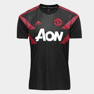 Camisa Manchester United Pré-Jogo 2018 Adidas Masculina 3c0866e716e67