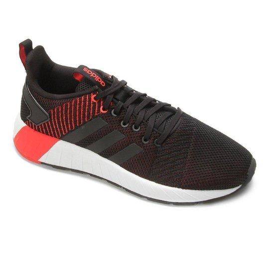 on sale cfb4d 6c7ad Tênis Adidas Questar Byd M Masculino - Preto+Vermelho
