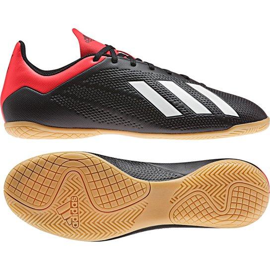bc210d5a2bd Chuteira Futsal Adidas X 18 4 IN - Preto e Vermelho - Compre Agora ...
