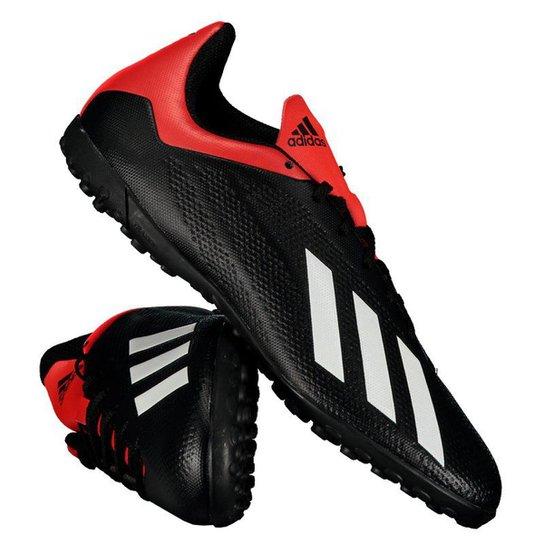771f3e13db Chuteira Society Adidas X 18 4 TF - Preto e Vermelho - Compre Agora ...