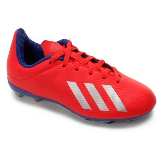 ceed39af55a84 Chuteira Campo Infantil Adidas X 18.4 FG - Vermelho e Prata