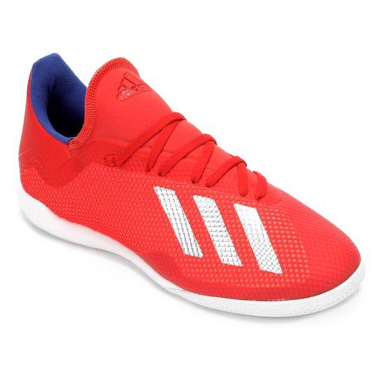 63f5567df776e Chuteira Futsal Adidas X 18.3 IN - Vermelho e Prata - Compre Agora ...