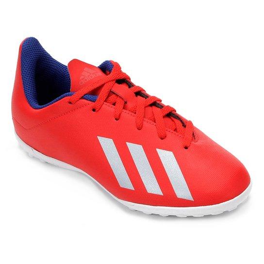 bda9b7a85 Chuteira Society Infantil Adidas X 18.4 TF - Vermelho e Prata | Netshoes