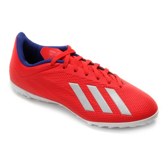 8b1b63901d Chuteira Society Adidas X 18.4 TF - Vermelho e Prata