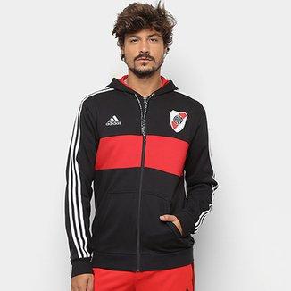 Jaqueta River Plate Adidas Torcedor Capuz Masculina 9c55d5570fb0e