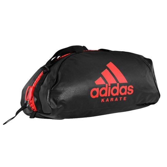 08d0fb980 Bolsa Mochila Adidas Karate 2in1 Essential 50L - Preto e Vermelho ...