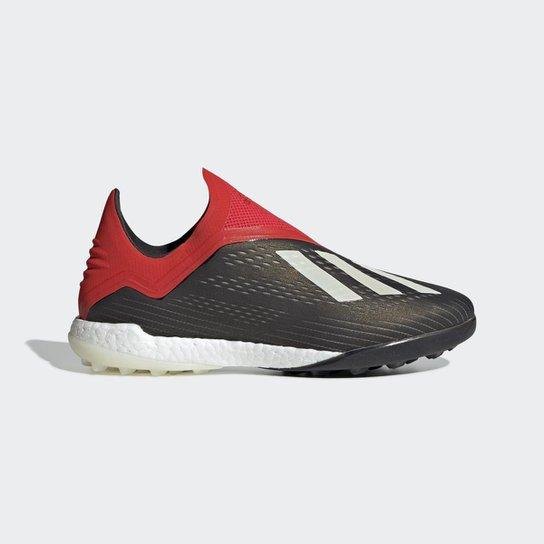 9466de2448b Chuteira Society Adidas X 18 0 TF - Preto e Vermelho - Compre Agora ...