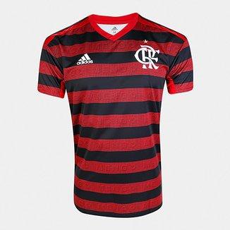 b40e37dcd6 Camisa Flamengo I 19/20 s/nº Torcedor c/ Patrocínio Adidas Masculina