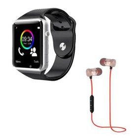 caea2c6d80e Kit DAGG Relógio Smartwatch e Fone XT-6 Bluetooth Sport Sem Fio