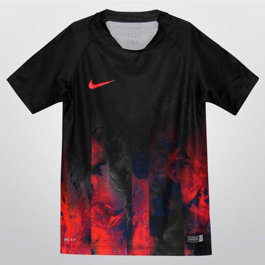 99f63a72201d5 Camiseta Nike CR7 Flash Infantil - Preto+Vermelho