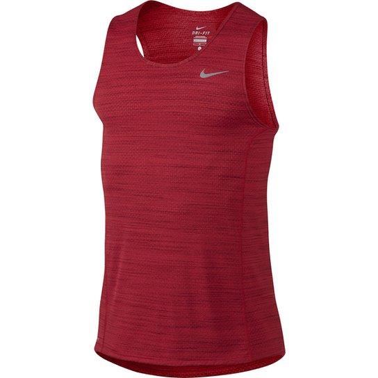 7b69d3fa5c Camiseta Regata Nike Cool Miler - Vermelho e Prata