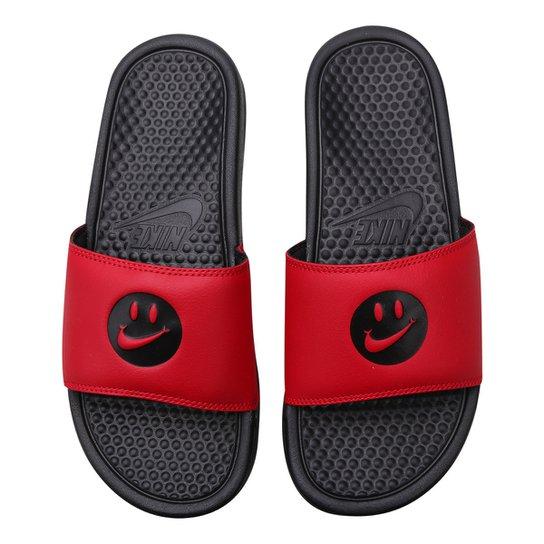 28d3f8a4a0448 Chinelo Nike Benassi Jdi Print Masculino - Preto e Vermelho | Netshoes