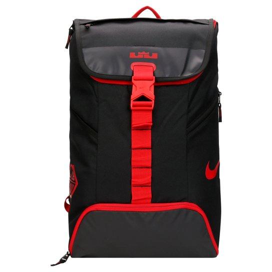 b69c0ad9a Mochila Nike Lebron Max Air Ambassador BP 2.0 - Preto+Vermelho