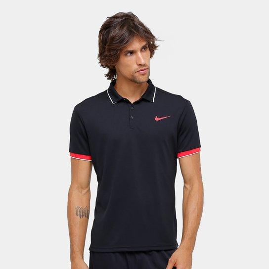 Camiseta Polo Nike Team Masculina - Preto e Vermelho - Compre Agora ... 7fc299f9aec6f