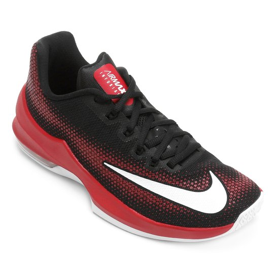 Tênis Nike Air Max Infuriate Low Masculino - Preto e Vermelho ... 32d753085c2