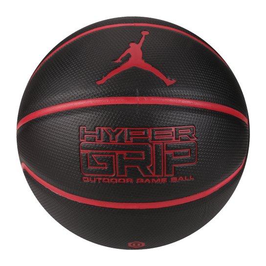 0b222dc069f Bola Basquete Nike Jordan Hyper Grip 4P Tam 7 - Preto+Vermelho