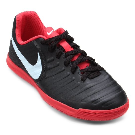 4a4f414aaa Chuteira Futsal Infantil Nike Tiempo Legend 7 Club IC - Preto+Vermelho