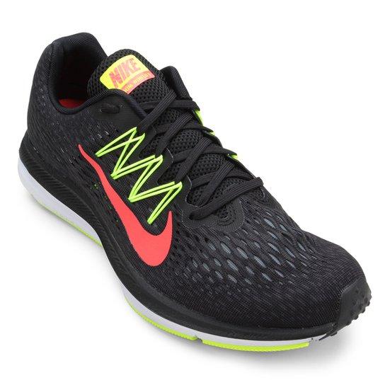 d225cbc08 Tênis Nike Zoom Winflo 5 Masculino - Preto e Vermelho - Compre Agora ...