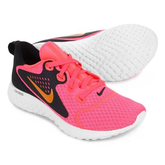 quality design e523f a6868 Tênis Nike Legend React Feminino - Rosa+Preto