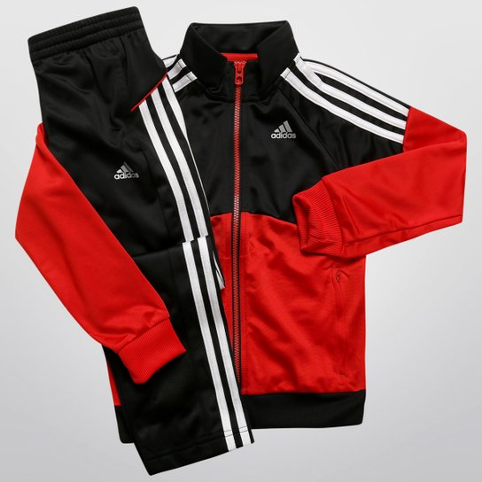 423269cf7a8 Agasalho Adidas YK TS Gear KN Infantil - Preto+Vermelho