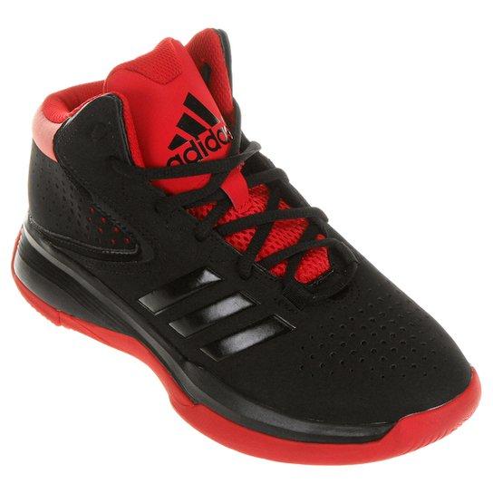cb90b3bf39e9 Tênis Adidas Cross EM 4 - Preto+Vermelho