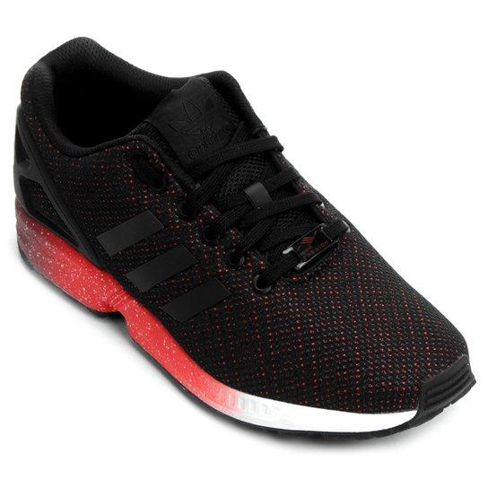 9b01213224e Tênis Adidas ZX FLUX - Preto+Vermelho
