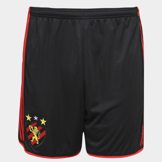 Calção Sport Recife 16 17 Adidas Masculino - Preto+Vermelho d2fc1189b588e