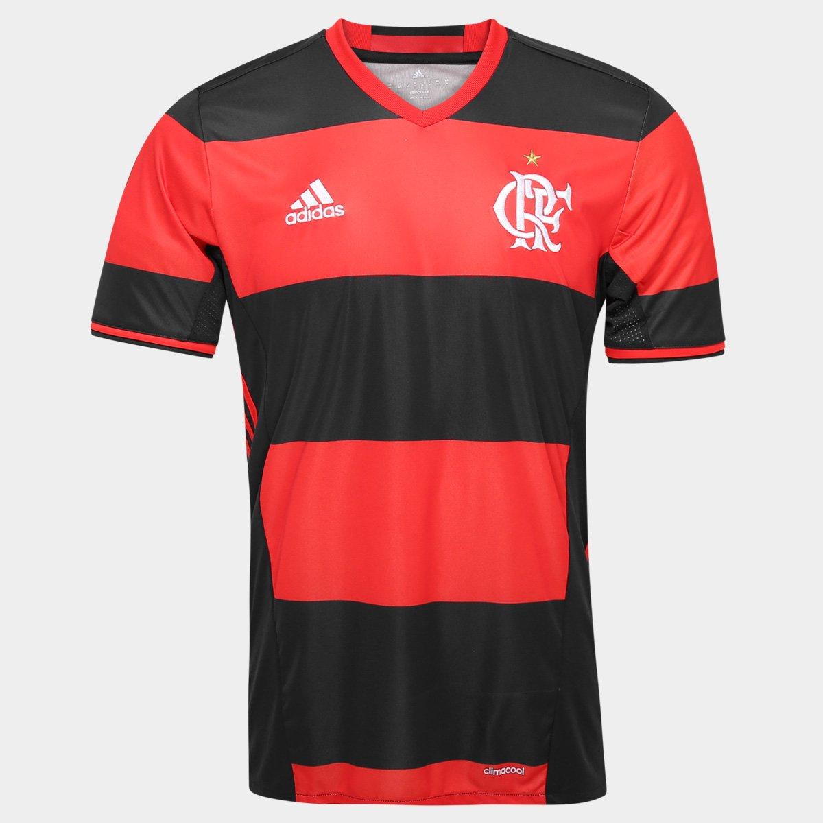 aeb50a45cc Camisa Flamengo I 2016 s nº Torcedor Adidas Masculina
