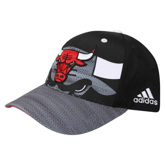 Boné Adidas NBA Chicago Bulls - Preto+Vermelho e8203abaac4